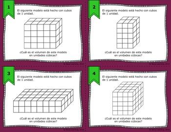 Calculating Volume Using Cubic Units - Bilingual Bundle