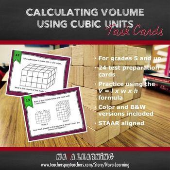 Calculating Volume Using Cubic Units - Task Cards