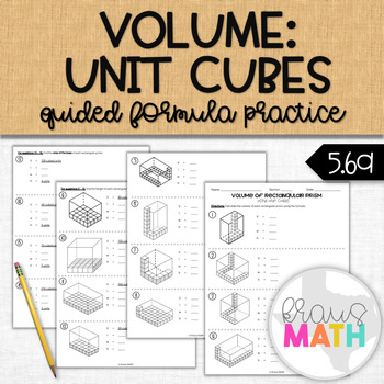 Calculating Volume using Unit Cubes STAAR Review (5.6A)