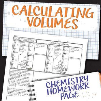 Calculating Volumes Chemistry Homework Worksheet