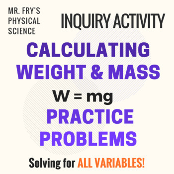 Calculating Weight & Mass Using W=mg