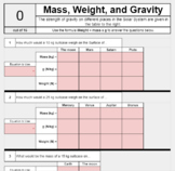 Calculating Weight, Mass, and Gravity *SELF GRADING* google sheet for eLearning