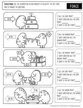 Calculating Work, Force, Speed and Density- Formulas Bundle