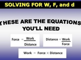 Calculating Work, Force, and Distance  (Warning: FLASH file)