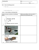 Calculating Work (W=Fxd) Worksheets and Key