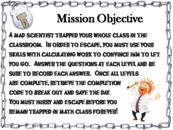 Calculating Work Word Problems Game: Physics Escape Room Science