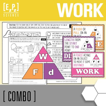 Calculating Work and Work Triangle Poster Combo