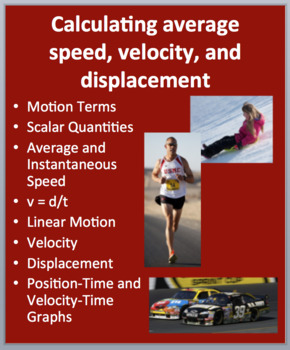 Calculating average speed, velocity, and displacement - Physical Science