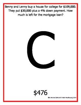 Calculating for Housing Scavenger Hunt