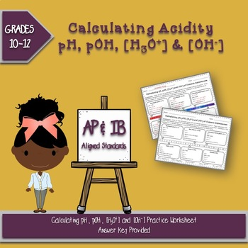 Calculating pH, pOH, [H+] and [OH-] of Common Substances