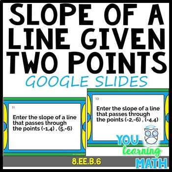 Calculating the Slope of a Line given 2 Points: Google Slides + 24 Task Cards
