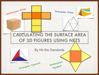 Calculating the Surface Area of Prisms & Pyramids using Nets 7.9D