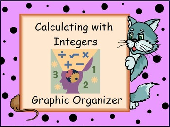 Calculating with Integers Graphic Organizer or Flow Chart