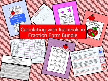 Calculating with Rationals in Fraction Form Bundle