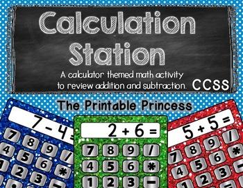 Calculation Station: Addition & Subtraction {Kindergarten