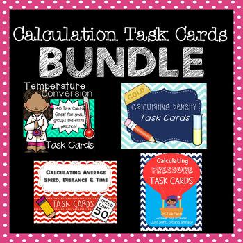 Calculation Task Cards Bundle