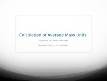 Calculation of Average Atomic Mass