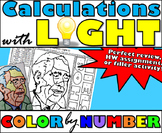 Calculations with Light - Energy, Wavelength, and Frequency - Color By Number
