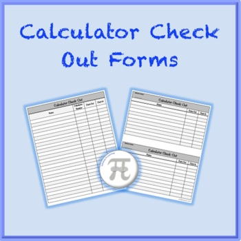 Calculator Check Out Forms