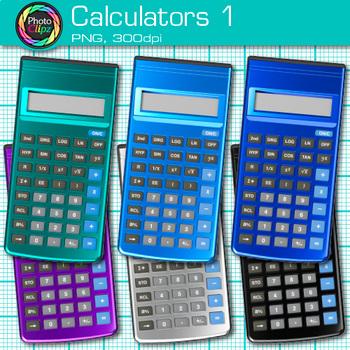 Calculator Clip Art {Measurement Tools for Math, Algebra, & Science Resources} 1