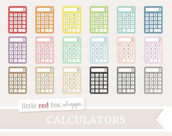 Calculator Clipart; Math, Supplies