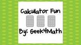 Calculator Fun Scavenger Hunt