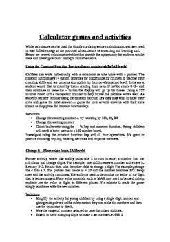 Calculator Games and Activities