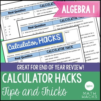 Calculator Tips and Tricks for Algebra 1 by Math Hacks | TpT