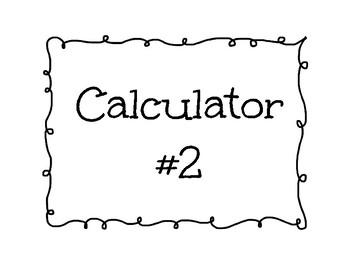 Calculator Labels