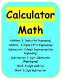 Calculator Math: 2-Digit Addition & Subtraction
