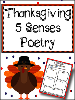 Thanksgiving Writing: 5 Senses Poetry