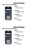 Calculator Practice - Decimals and Rounding
