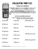 Calculator Practice: Evaluating Exponents