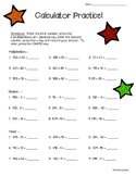 Calculator Practice!--Multiplication/Division