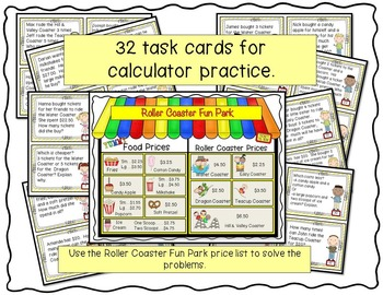 Calculator Practice Task Cards