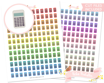 Calculator Printable Planner Stickers