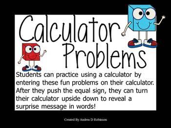 Calculator Problems Set 2