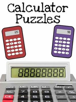 Calculator Puzzles by Ashleigh | Teachers Pay Teachers