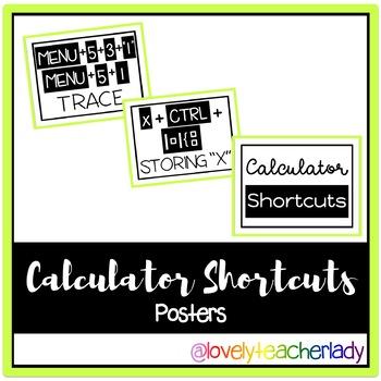 Calculator Shortcuts Posters