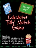 Calculator Tally Match Game Great for Centers or Math time