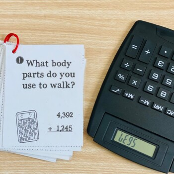 Calculator Word Fun Math Game Task Cards