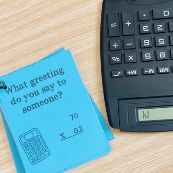 Calculator Word Riddle Task Cards Math Game