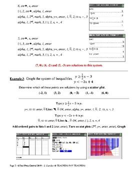 Calculator Workshop #16 - Graphing Inequalities