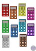 Calculators Back to School Math Clip Art Illustrations