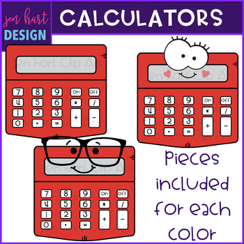 Calculators Clip Art- School Supplies {jen hart Clip Art)