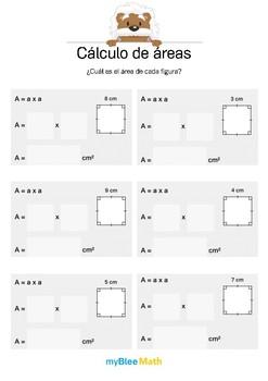 Cálculo de áreas 1 - ¿Cuál es a área? (cuadrado)