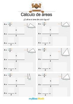 Cálculo de áreas 3 - ¿Cuál es la área? (triángulo)