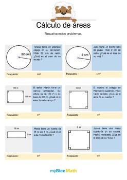 Cálculo de áreas 5 - Problemas de áreas
