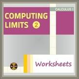 Computing Limits WS - 2 part ( 16 compex limits - radicals and radicals & trig )