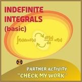 Calculus Integration : Indefinite Integrals - Partner Acti
